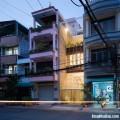 Mẫu nhà phố đẹp với hệ khung rỗng lập phương đầy phá cách