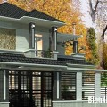 Những mẫu nhà 2 tầng với thiết kế tường rào đẹp mê ly